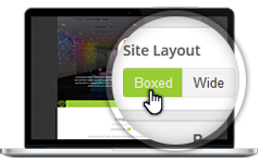 Boxed & Wide Layout